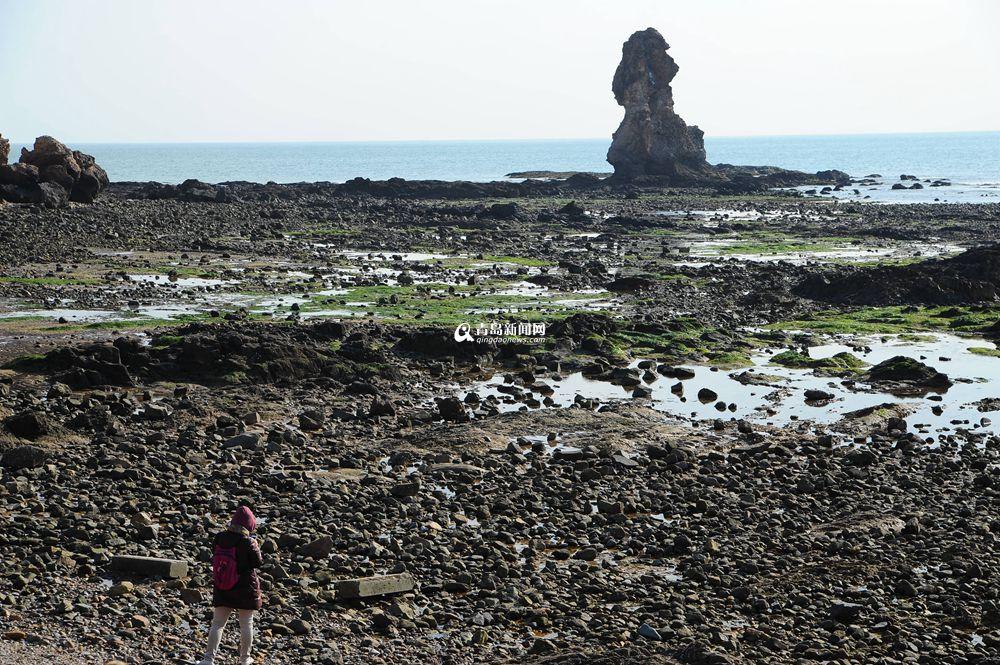 高清:崂山海域退大潮 石老人巨石浮出水面 - 青岛新闻