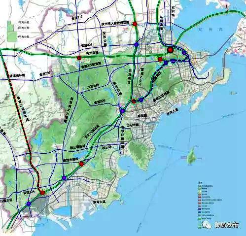 高速公路规划图-西海岸迎来大交通时代 疏港铁路进入国家方案