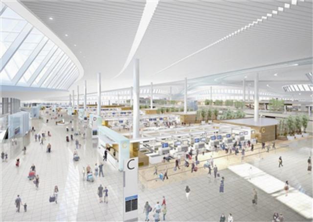 青岛新机场航站楼招商 将建美食街等四个商业区