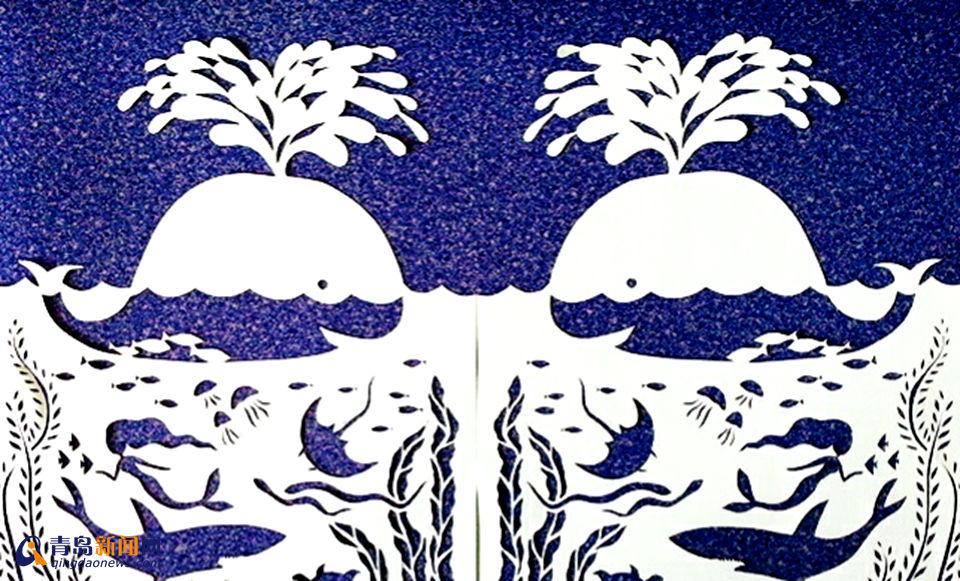 青岛网友用废纸做精美纸刻画(组图)