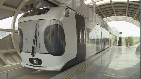 还有一种智能轨道快运系统正式发布     它被称为虚拟轨道列车