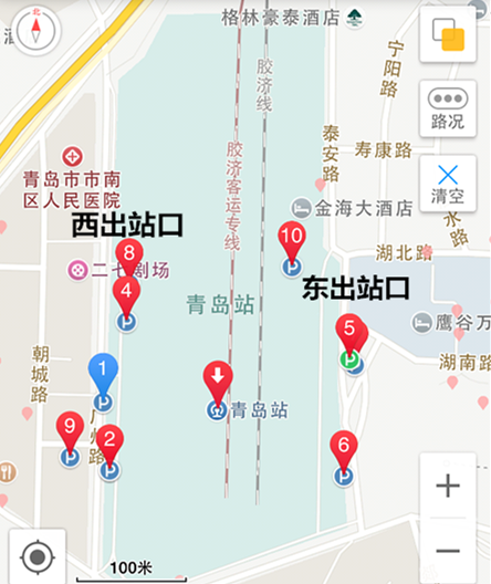 青岛火车站周边停车场