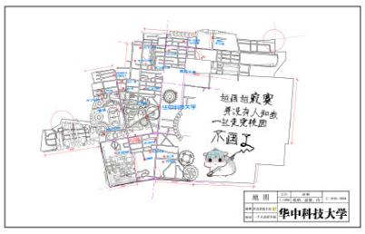 最暖学长开学有礼 手绘地图成新晋网红